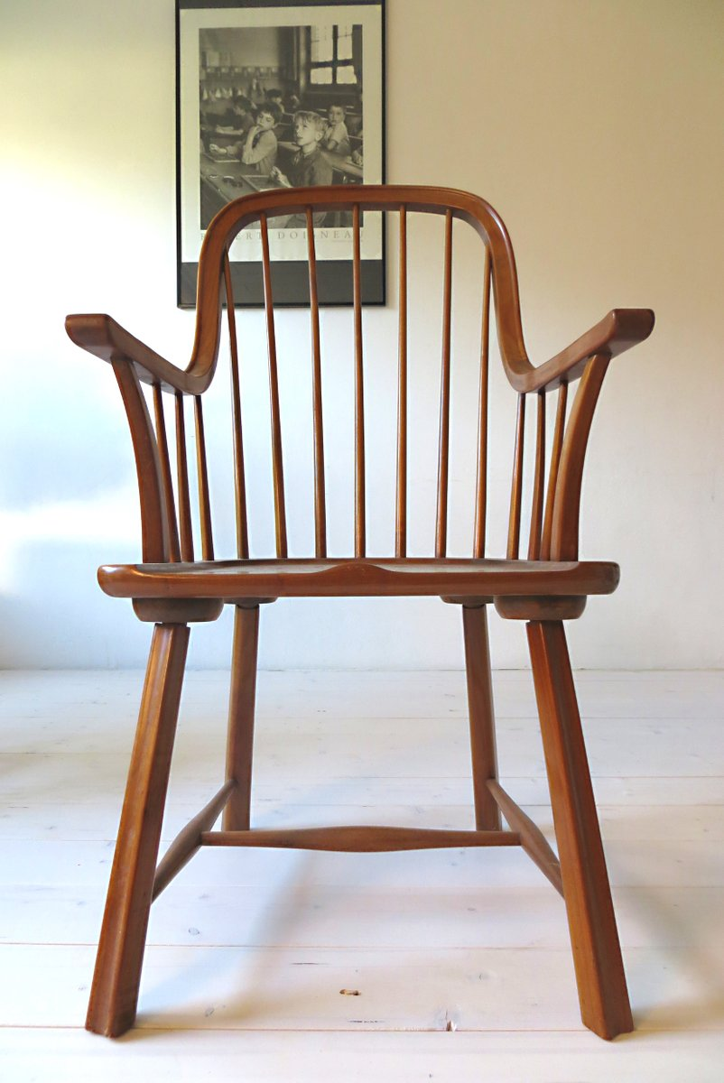 Scandinavian Beechwood Chairs, 1950s, Set Of 3