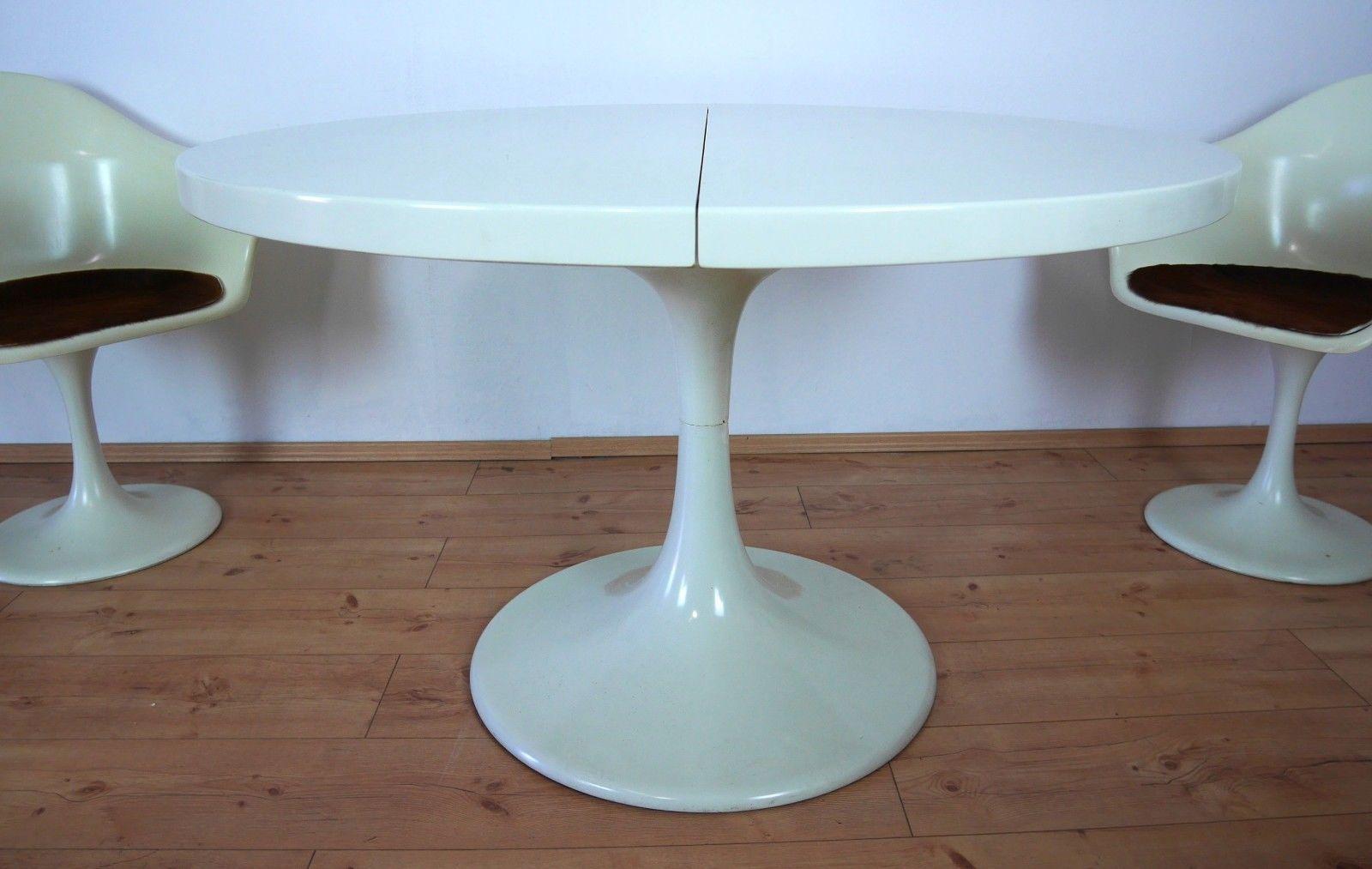 Model Set Line Tulip Table U0026 4 Chairs By Konrad Schäfer For Lübke, 1970s