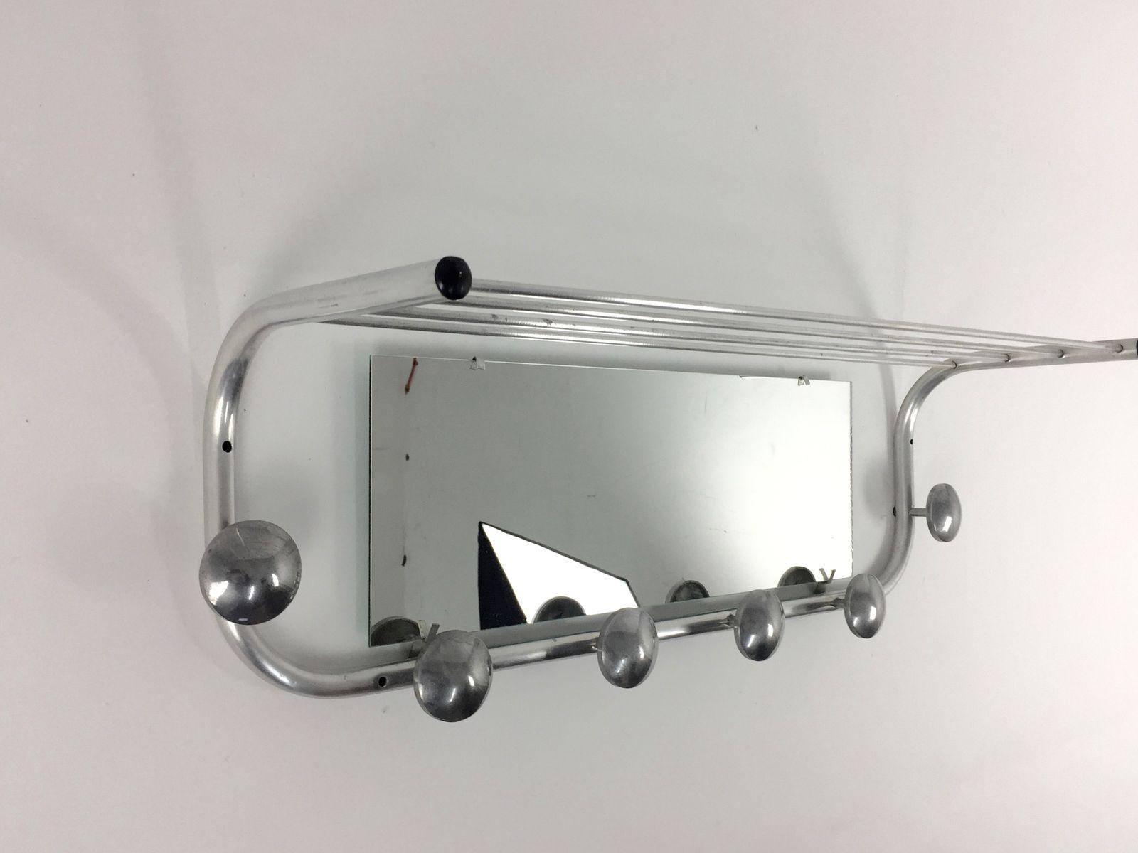 Appendiabiti con specchio, Francia, anni \'50 in vendita su Pamono