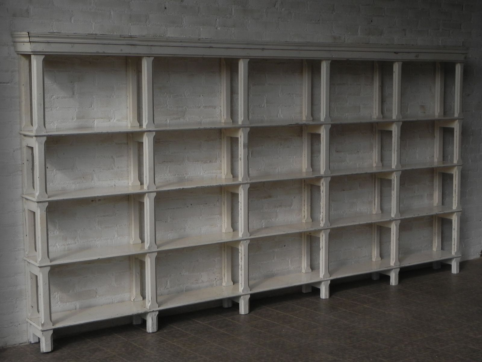 gro es vintage regalsystem aus holz bei pamono kaufen. Black Bedroom Furniture Sets. Home Design Ideas