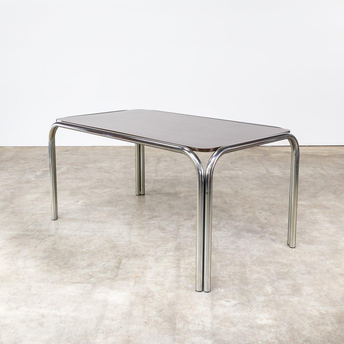 esstisch mit gestell aus metallrohr 1970er bei pamono kaufen. Black Bedroom Furniture Sets. Home Design Ideas