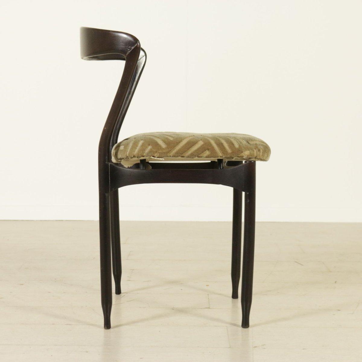 ebonisierte italienische st hle aus gebeiztem holz 1960er 4er set bei pamono kaufen. Black Bedroom Furniture Sets. Home Design Ideas