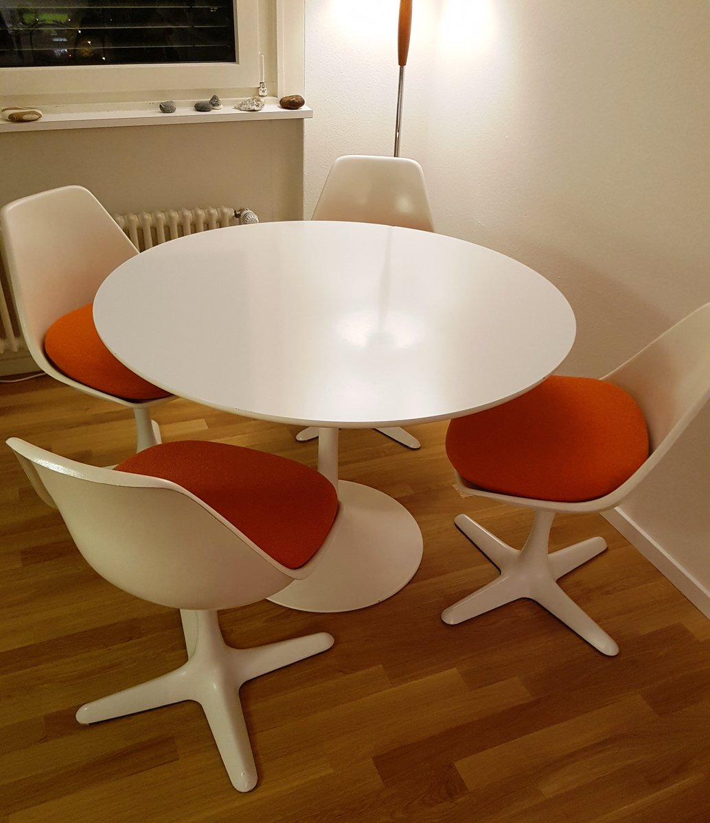 Perfect Vintage Tulip Table 4 Chairs By Maurice Burke For Arkana