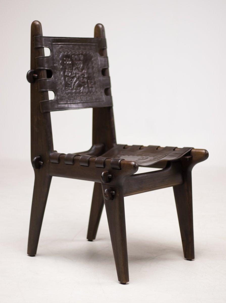 Vintage ecuadorian dining chairs by angel pazmino for - Muebles estilo vintage ...