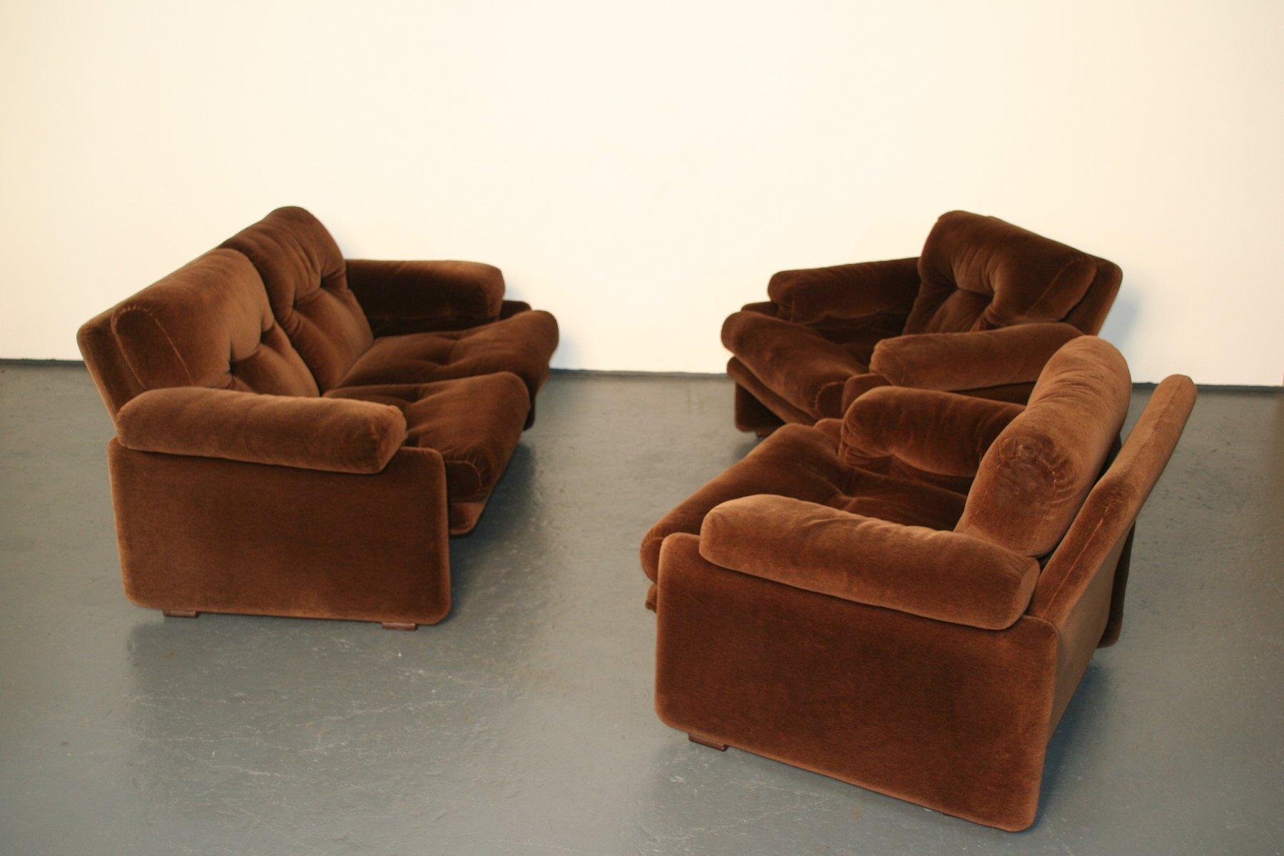 set de mobilier de salon coronado vintage par tobia et. Black Bedroom Furniture Sets. Home Design Ideas