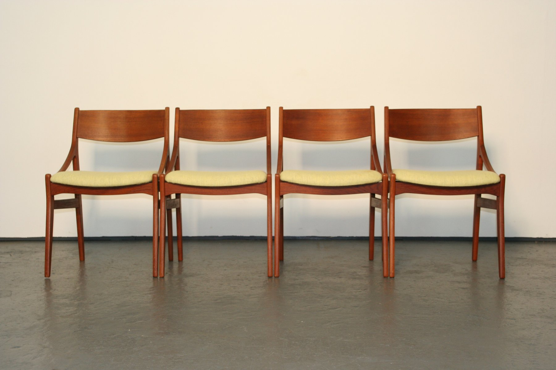 Danish Dining Chairs in Teak by H Vestervig Eriksen Set of 4 for