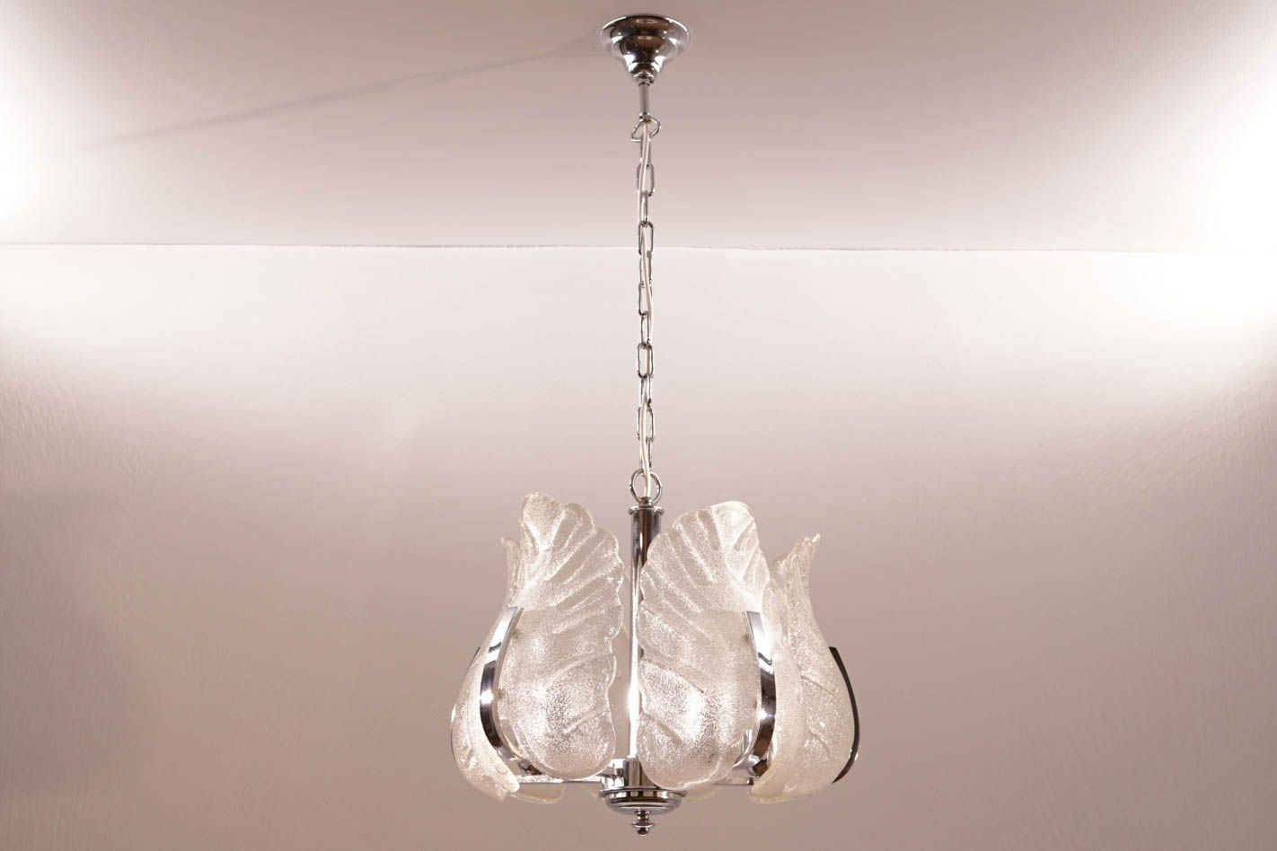 Vintage chrome and murano glass chandelier by carl fagerlund for vintage chrome and murano glass chandelier by carl fagerlund for orrefors aloadofball Images