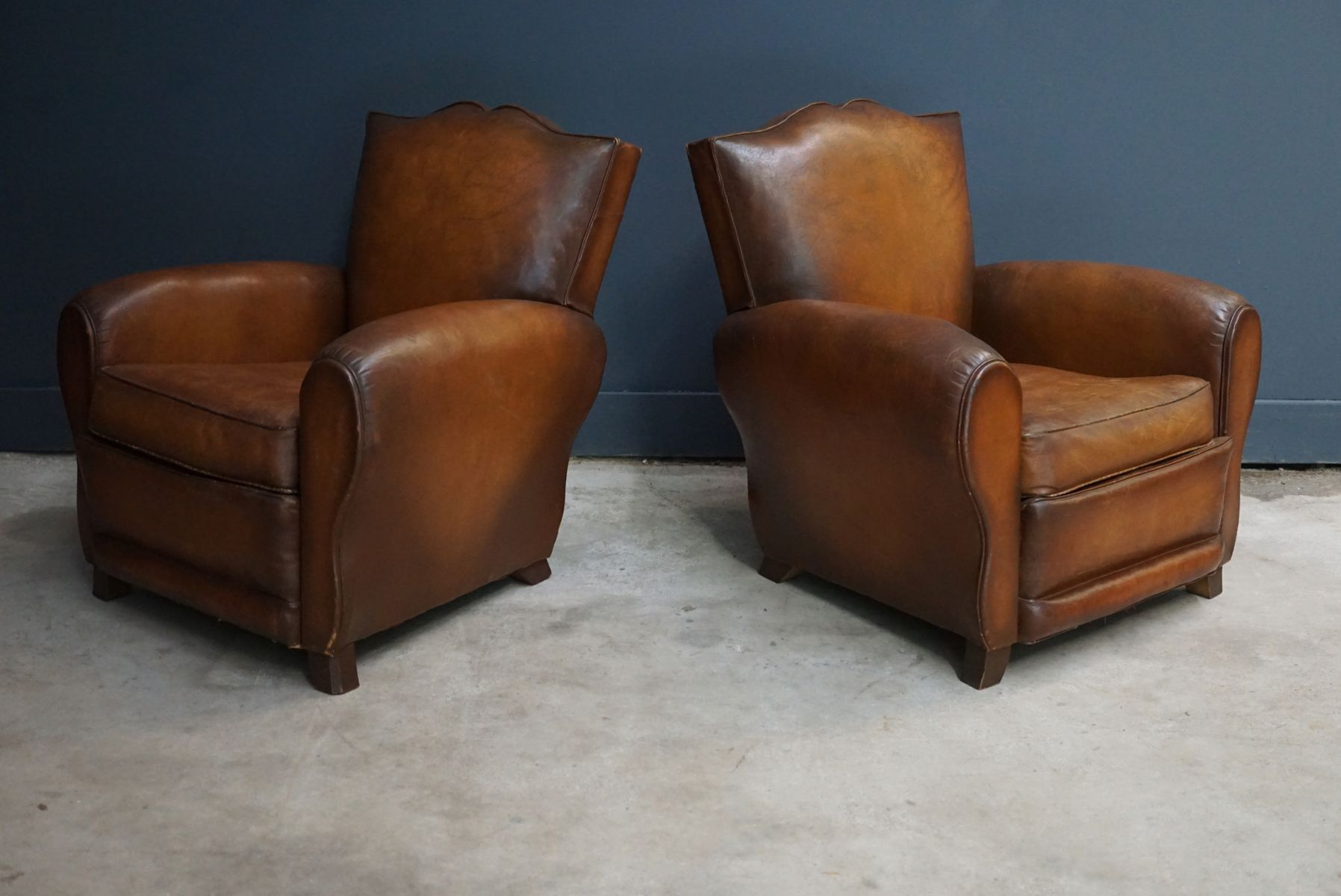 leather club chair for sale cognac moustache back leather club chairs 1940s 8933