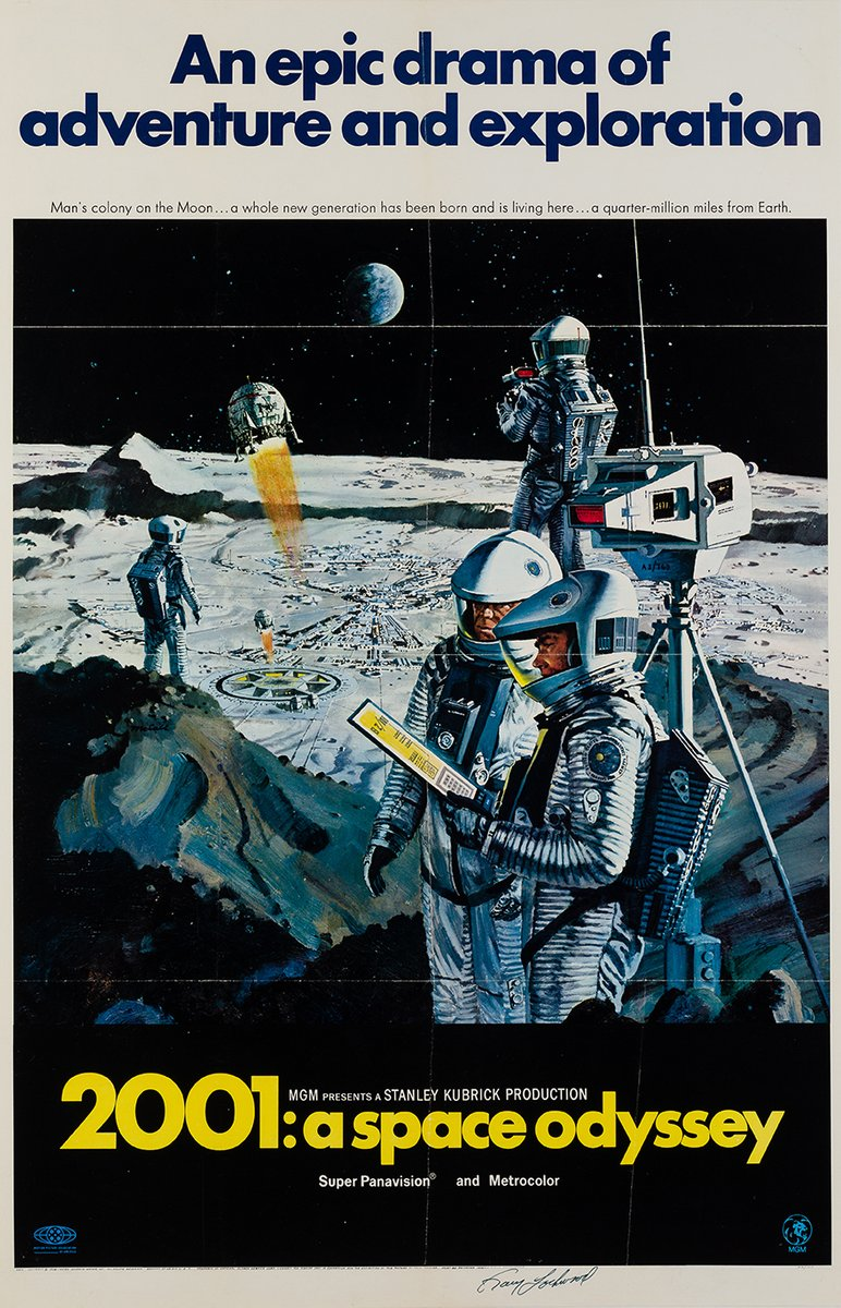 2001 A Space Odyssey Film Poster, 1968 for sale at Pamono