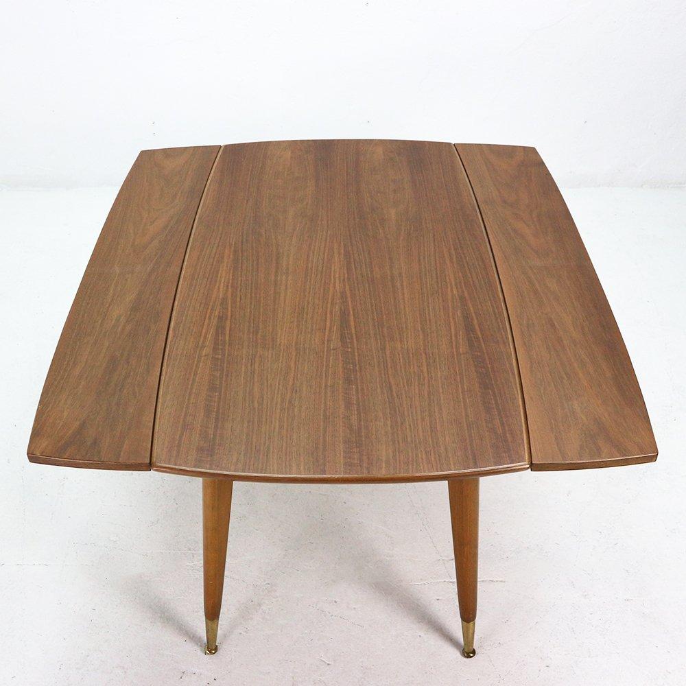 couch oder esstisch mit walnuss furnier 1950er bei pamono kaufen. Black Bedroom Furniture Sets. Home Design Ideas