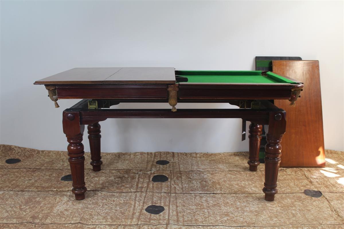 Tavolo da pranzo e da biliardo in quercia di e g riley - Tavolo da biliardo trasformabile in tavolo da pranzo ...