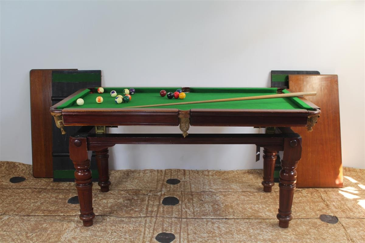 Billiard table in english oak from e g riley 1930s for for Oak beauty pool table