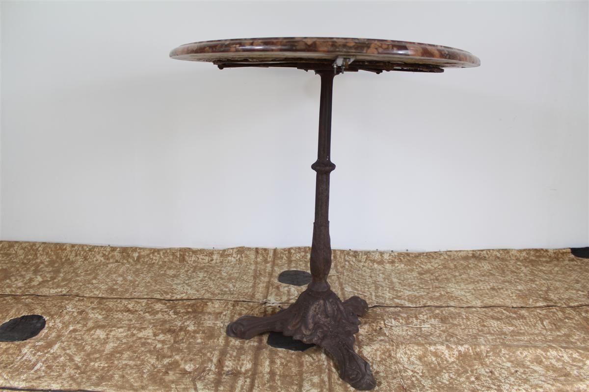 Antiker bistrotisch aus marmor gusseisen bei pamono kaufen for Marmor bistrotisch