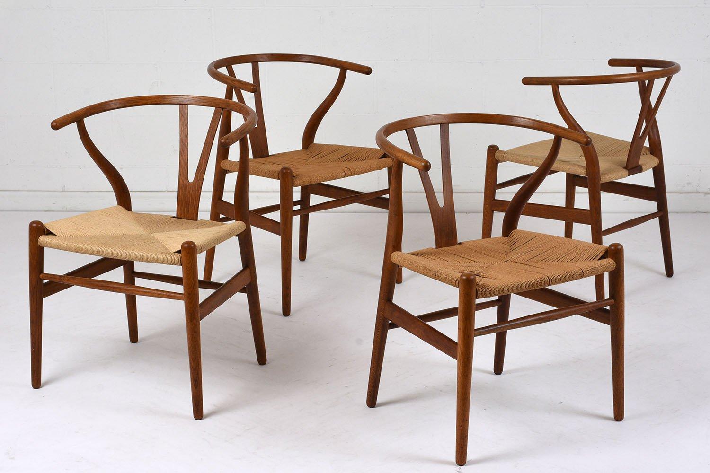 Schön Skandinavische Esszimmerstühle, 1970er, 4er Set