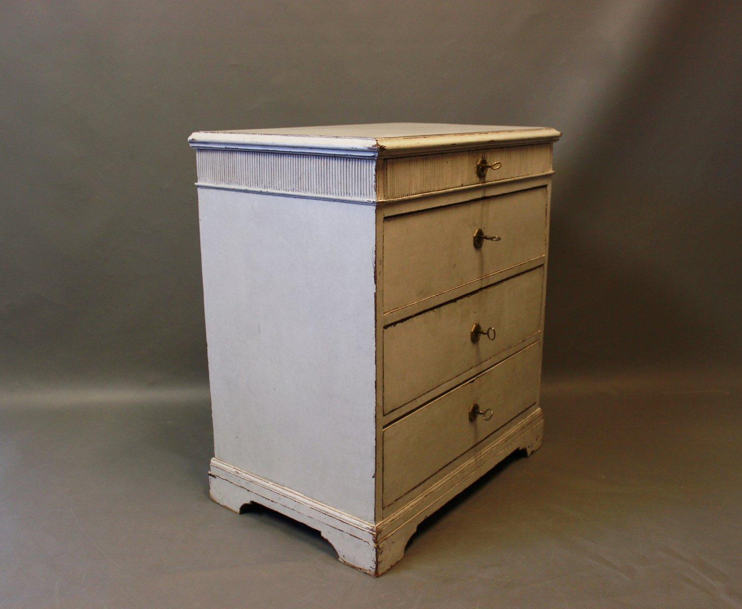 kleine graue bemalte kommode 1880er bei pamono kaufen. Black Bedroom Furniture Sets. Home Design Ideas