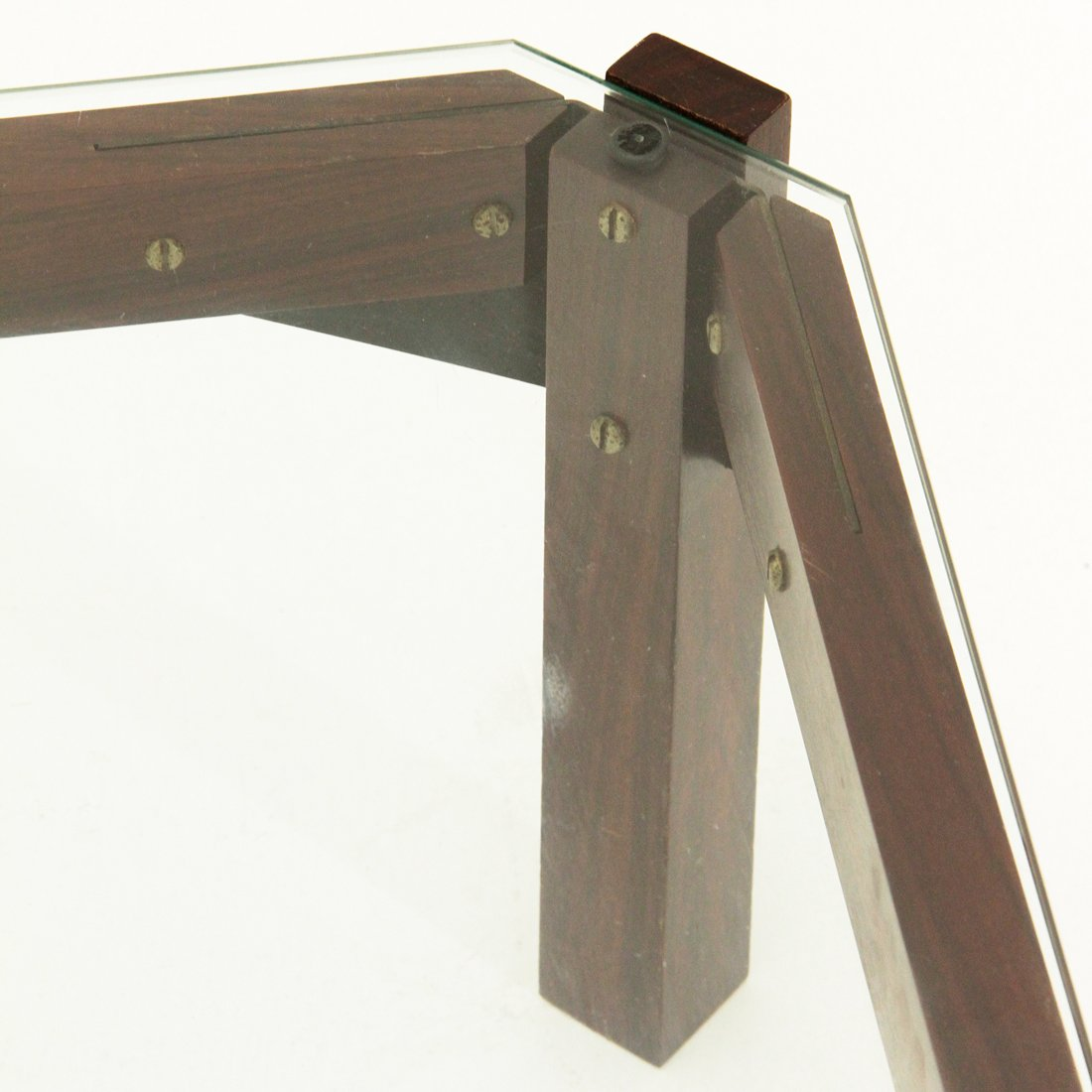 italienischer couchtisch aus palisander glas 1960er bei. Black Bedroom Furniture Sets. Home Design Ideas