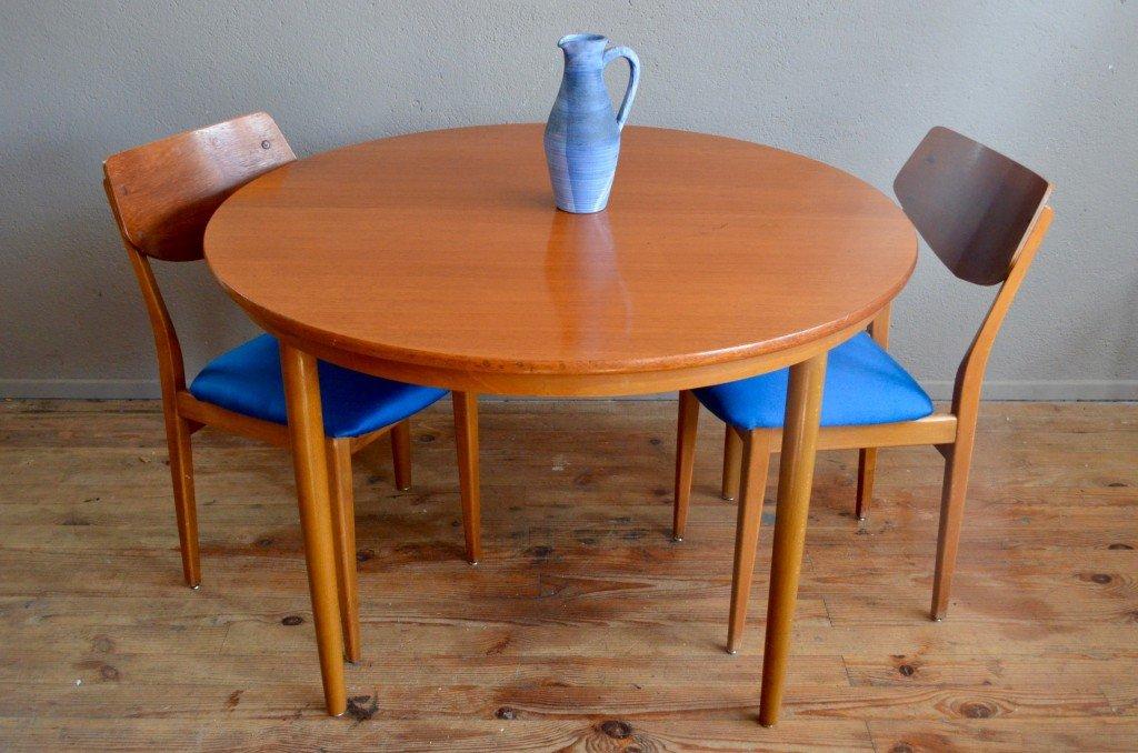 Runder skandinavischer vintage tisch von farstrup 1960er for Runder vintage tisch