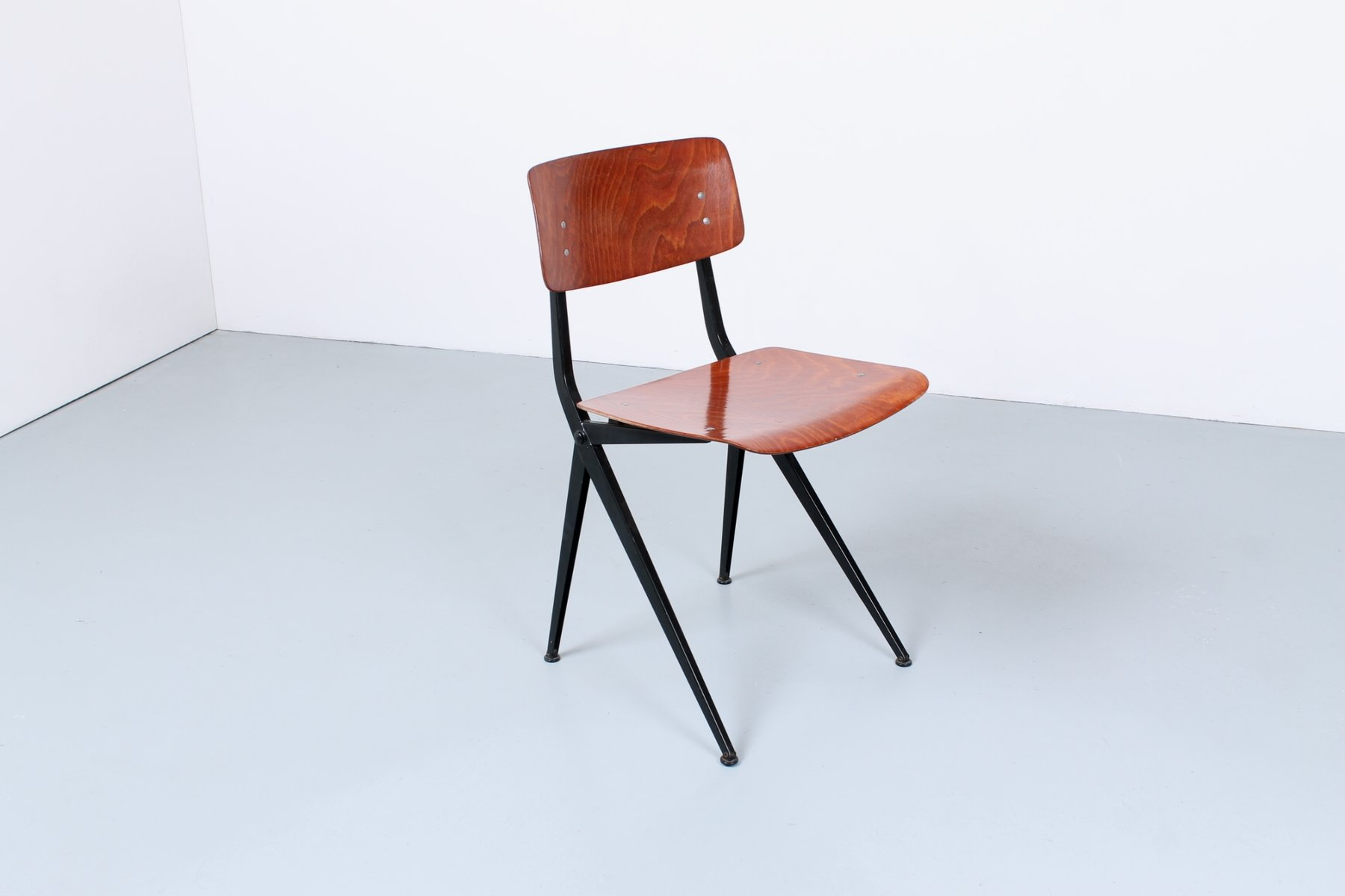 Vintage Industrial Pagwood School Chairs By Ynske Kooistra For Marko, Set  Of 6 For Sale At Pamono