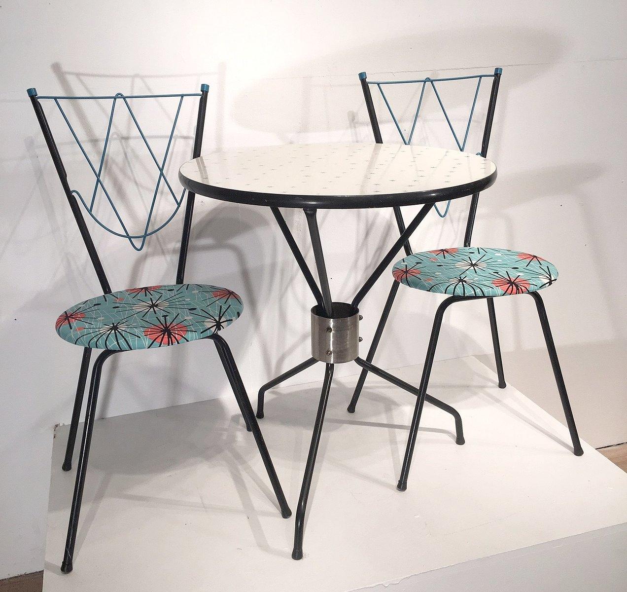 vintage esszimmerset mit 1 tisch und 2 st hlen bei pamono kaufen. Black Bedroom Furniture Sets. Home Design Ideas