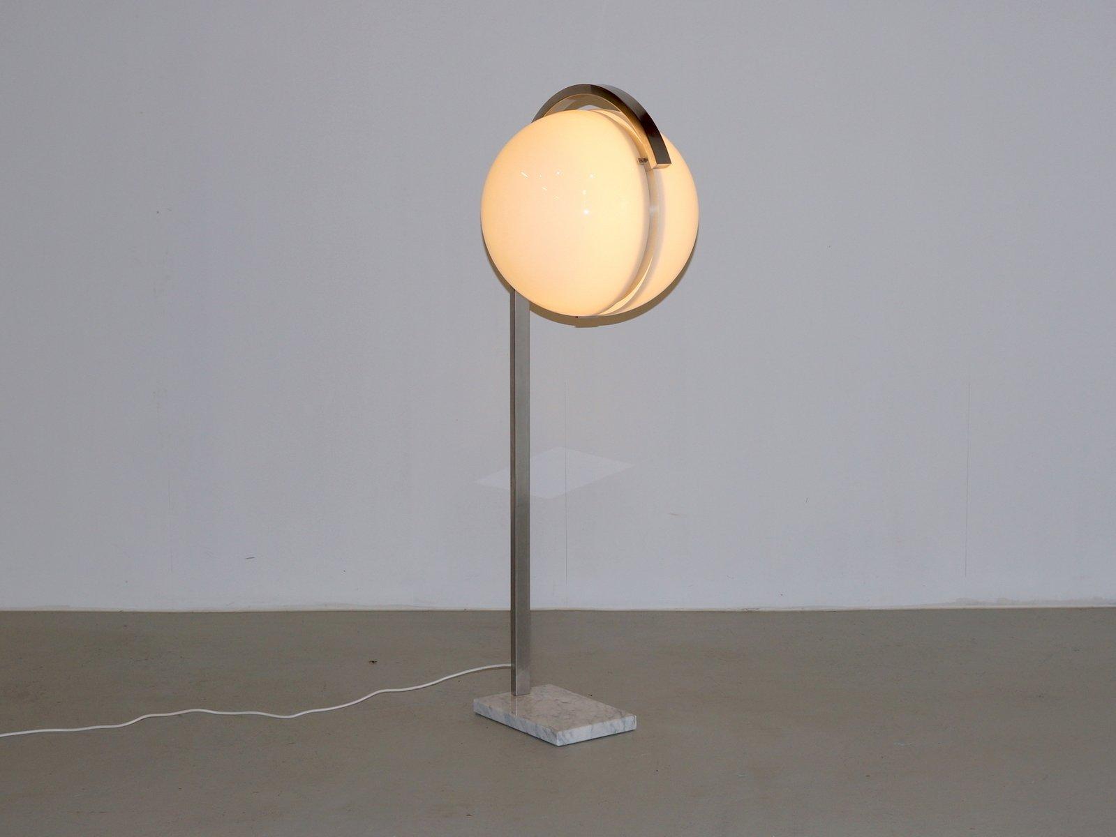 Acrylic globe floor lamp on carrara marble base from acciarri acrylic globe floor lamp on carrara marble base from acciarri 1960s aloadofball Choice Image