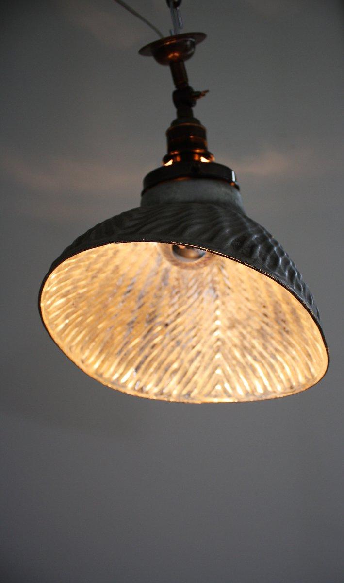 Vintage Art Deco Mercury Glass Wall or Pendant Light for sale at Pamono