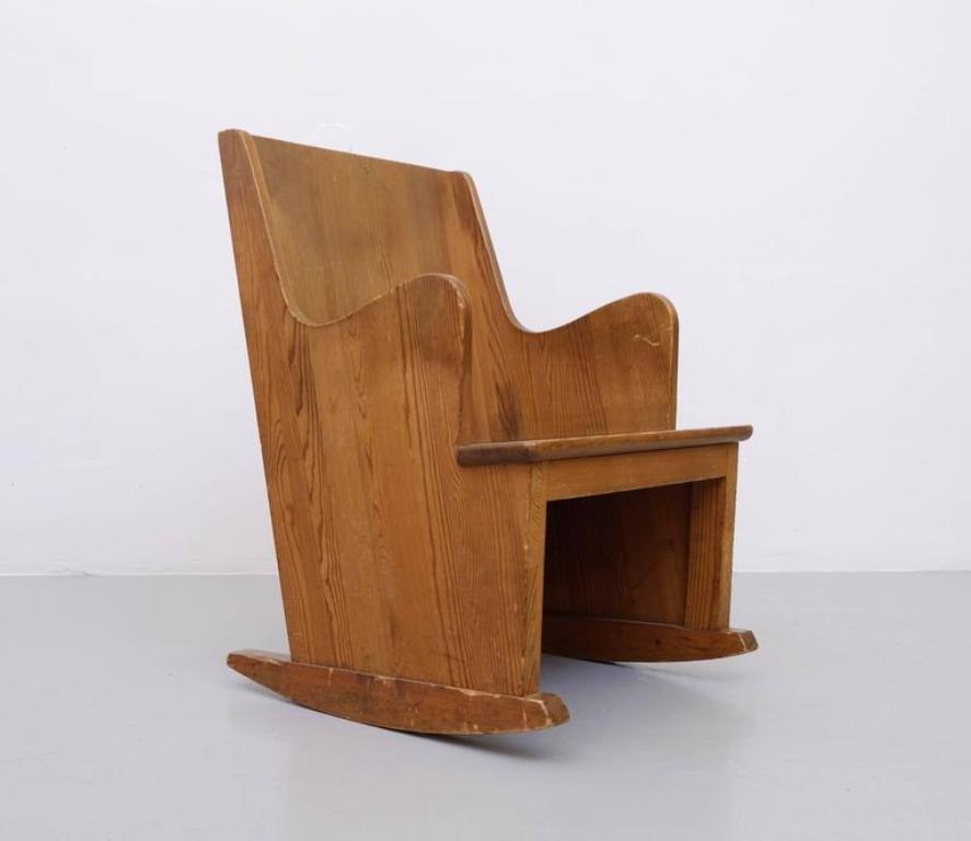 Lovö Rocking Chair By Axel Einar Hjorth For Nordiska Kompaniet, 1930s