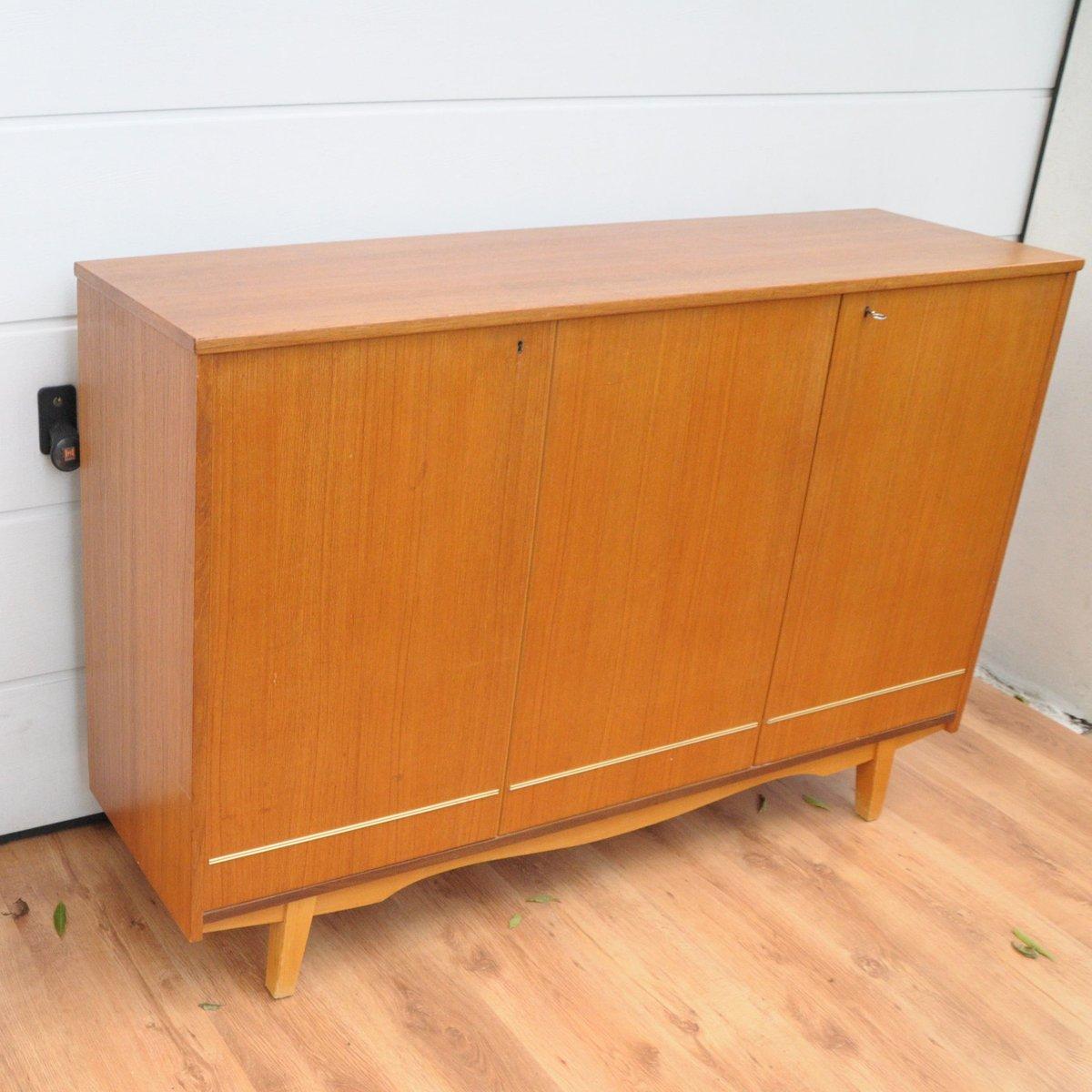 danish teak cabinet 1960s for sale at pamono. Black Bedroom Furniture Sets. Home Design Ideas