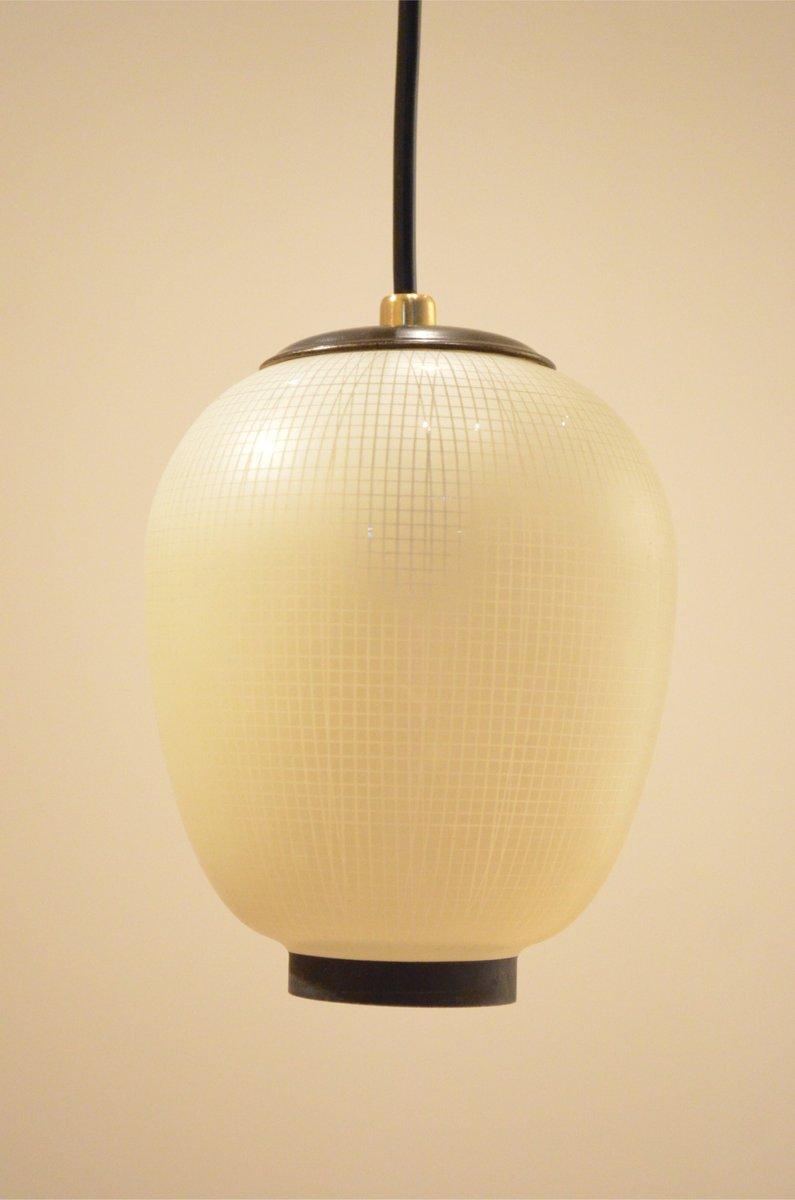 Italienische mid century lampions deckenlampe mit 3 for Italienische leuchten