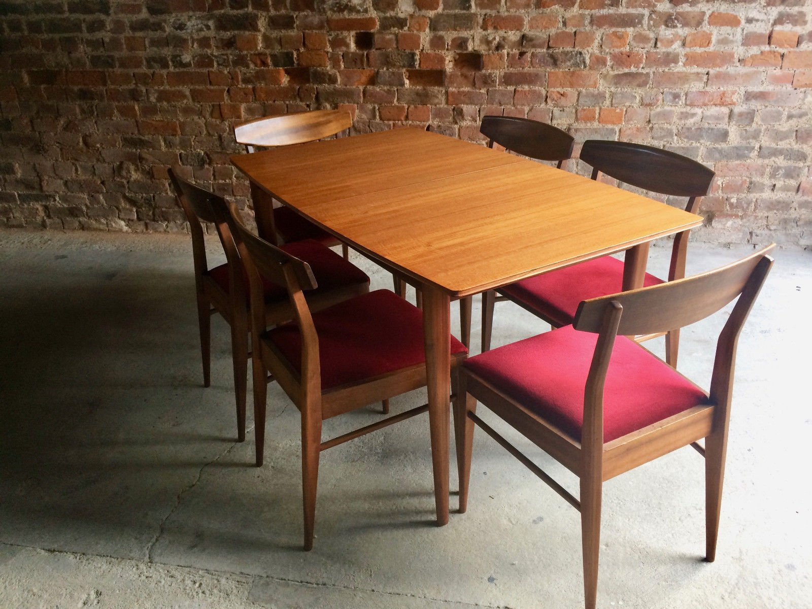 solid teak extending dining table and 6 chairs from mcintosh 1970s for sale at pamono - Extending Dining Table And Chairs