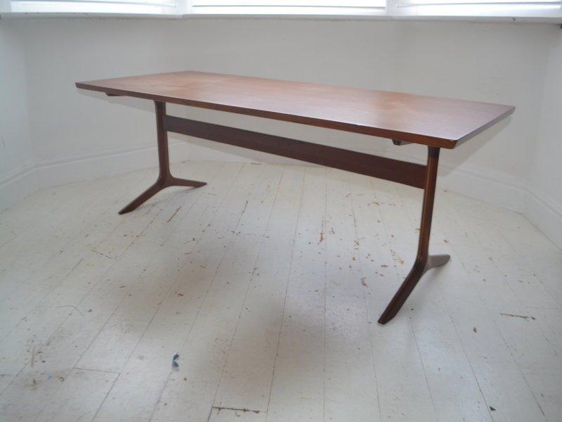 Vintage Danish Teak Silverline Coffee Table By Peter Hvidt For France U0026 Son