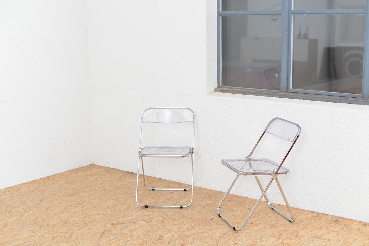 plia st hle von giancarlo piretti f r castelli 5er set. Black Bedroom Furniture Sets. Home Design Ideas