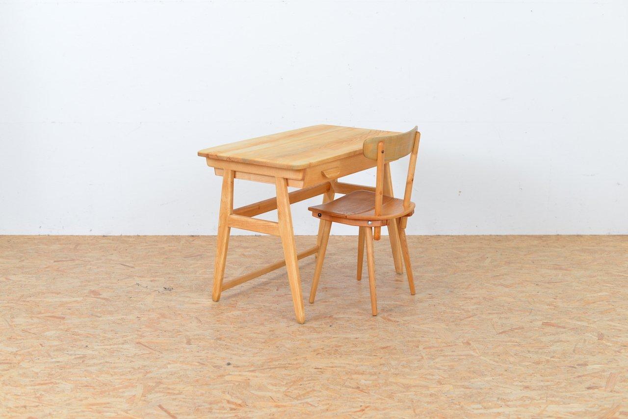vintage schreibtisch und stuhl von jacob m ller f r wohnhilfe bei pamono kaufen. Black Bedroom Furniture Sets. Home Design Ideas