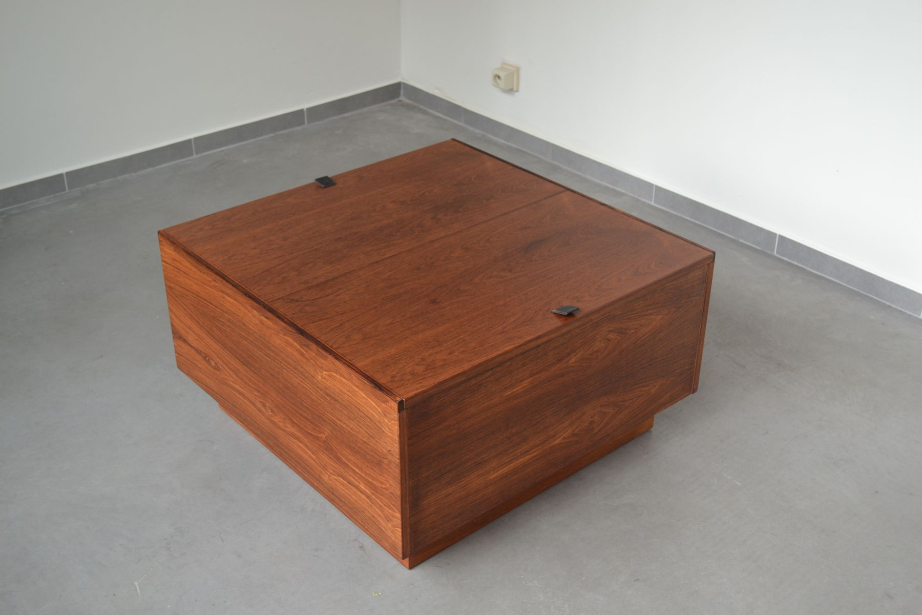 Finnish Mid Century Coffee Table Storage Box From Vilka 1950s
