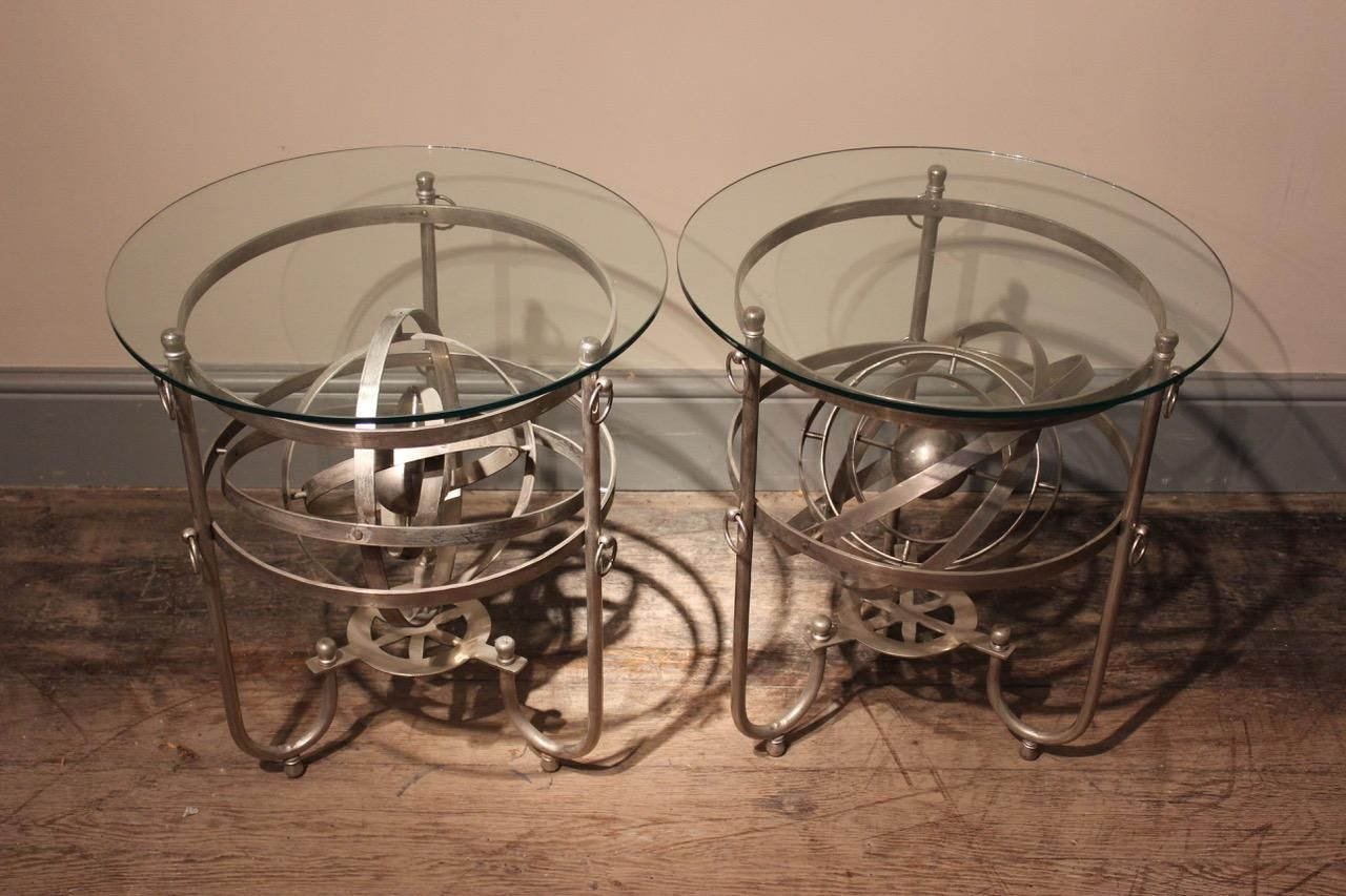 Vintage italian armillary sphere tables set of 2 for sale at pamono price per set arubaitofo Image collections