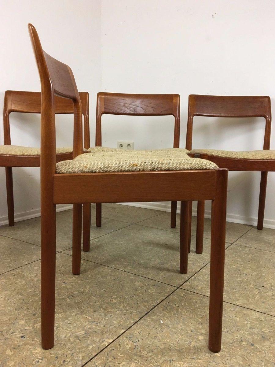 teak esszimmerst hle 1960er 6er set bei pamono kaufen. Black Bedroom Furniture Sets. Home Design Ideas