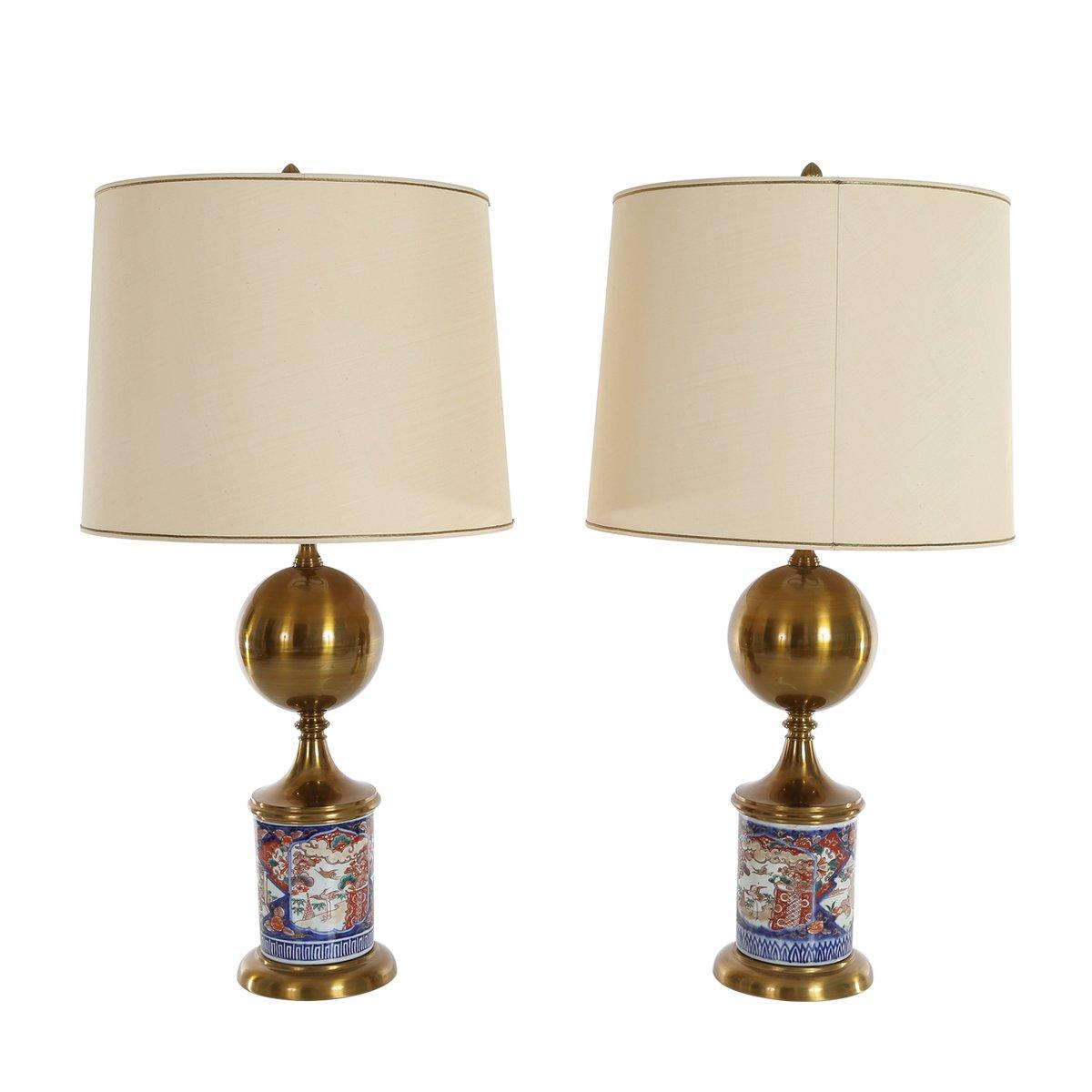 Lampade da tavolo mid century con basi in porcellana for Lampade piccole da tavolo