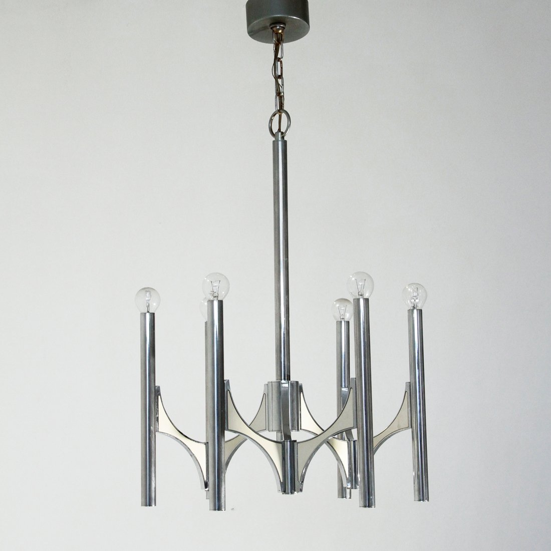 Six light chandelier from sciolari 1970s for sale at pamono six light chandelier from sciolari 1970s aloadofball Images
