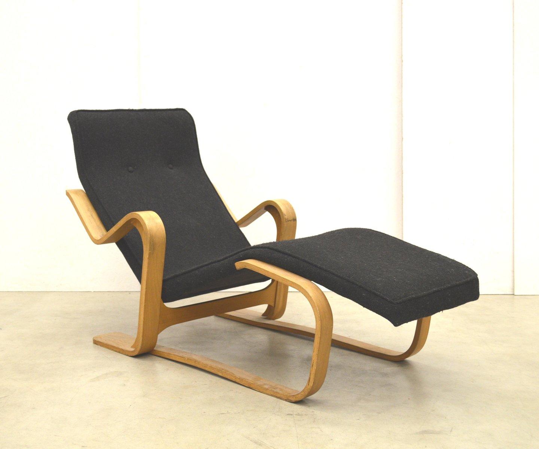 chaise longue en broussin par marcel breuer pour isokon 1950s en vente sur pamono. Black Bedroom Furniture Sets. Home Design Ideas