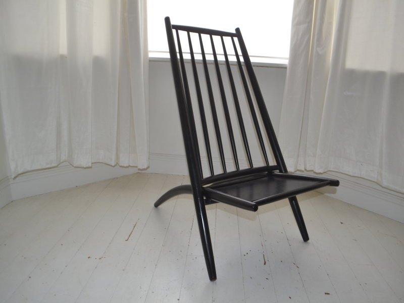 skandinavischer vintage kongo stuhl von alf svensson f r. Black Bedroom Furniture Sets. Home Design Ideas