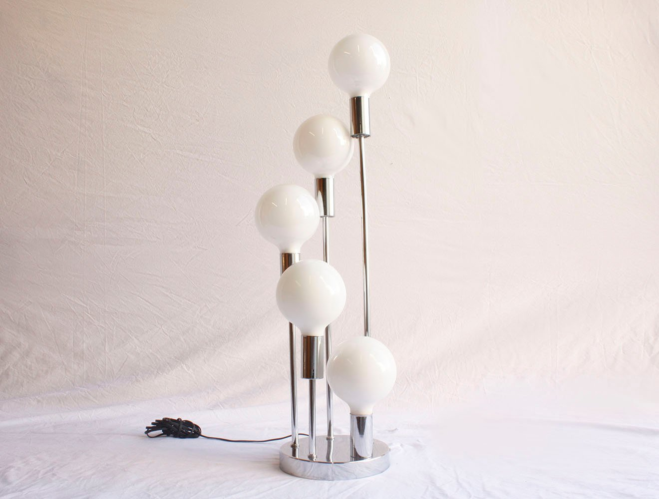 Mid century modernist chrome table lamp for sale at pamono mozeypictures Gallery