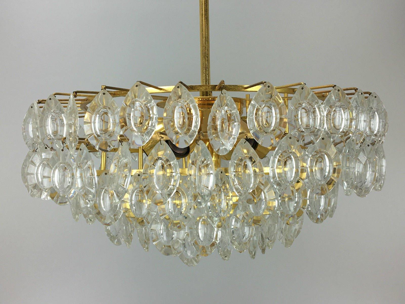 Brass glass chandelier from kinkeldey 1960s for sale at pamono brass glass chandelier from kinkeldey 1960s mozeypictures Gallery