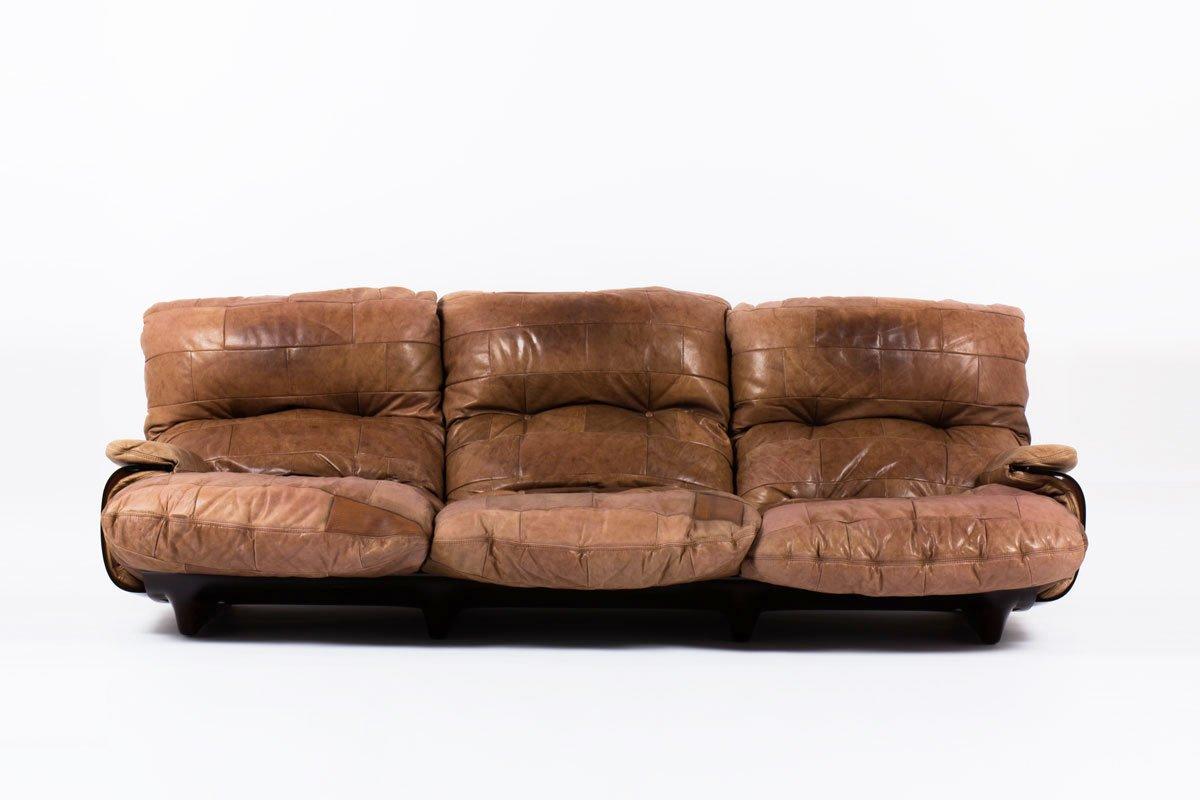 marsala sofa von michel ducaroy f r ligne roset 1970er bei pamono kaufen. Black Bedroom Furniture Sets. Home Design Ideas