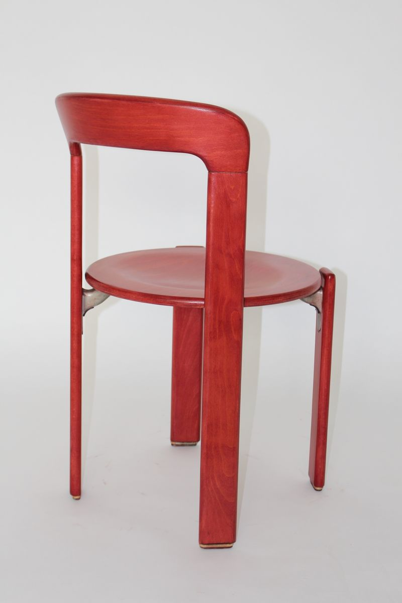 Vintage Red Dining Chairs by Bruno Rey for Kusch & Co, Set of 6 for ...