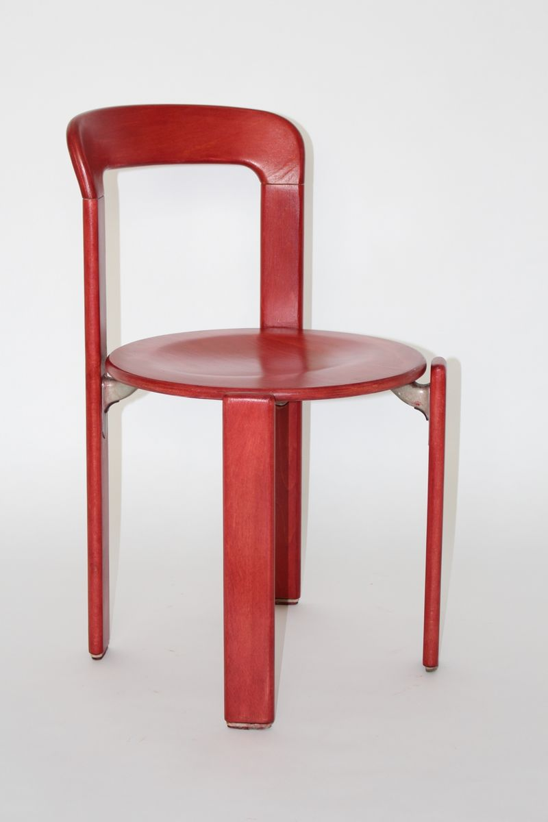 Vintage Red Dining Chairs By Bruno Rey For Kusch U0026 Co, Set Of 6 For Sale At  Pamono
