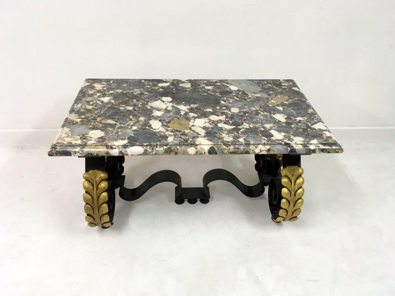 Franz sischer mid century metall marmor couchtisch bei for Couchtisch metall marmor