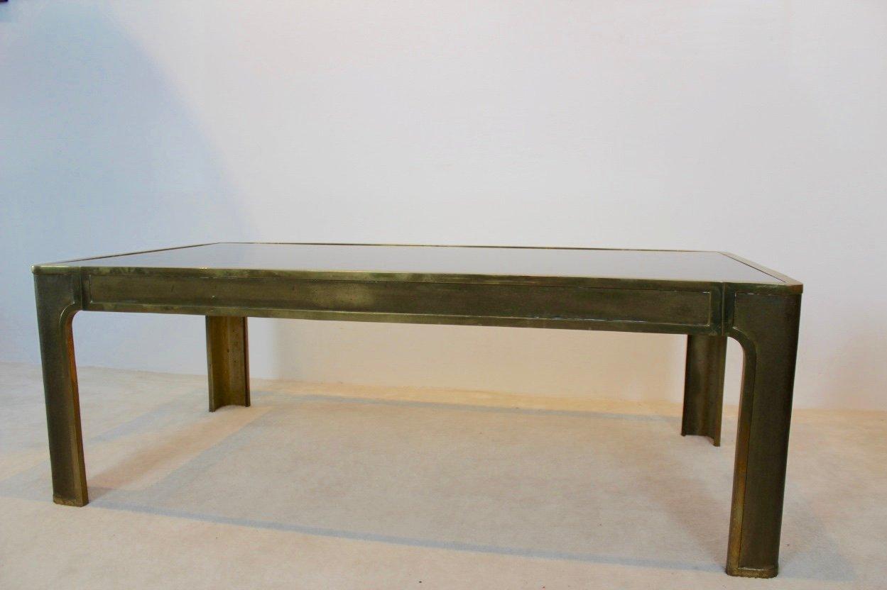 messing glas couchtisch 1970er bei pamono kaufen. Black Bedroom Furniture Sets. Home Design Ideas