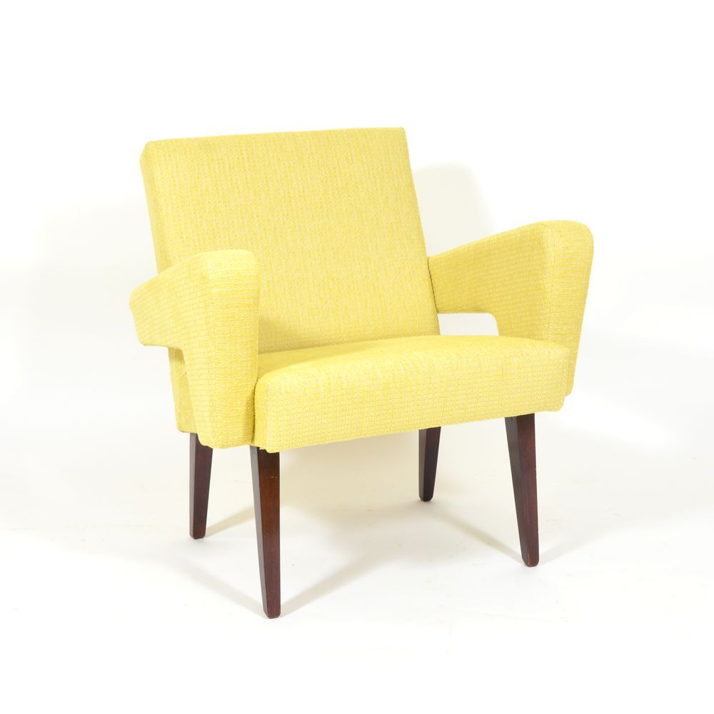Vintage Czech Yellow Lounge Chair For Sale At Pamono