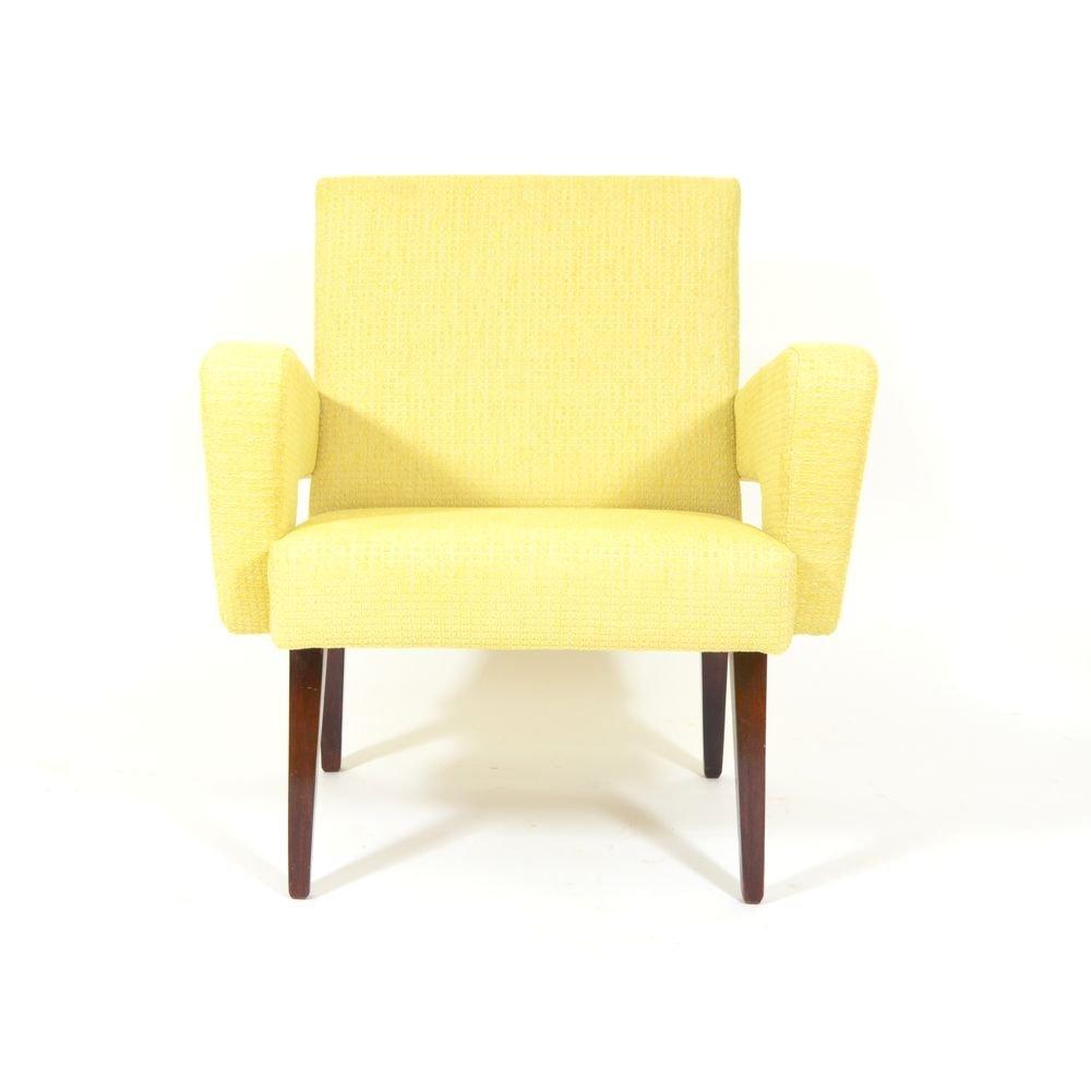 Fauteuil Jaune Vintage fauteuil jaune vintage tchèque en vente sur pamono