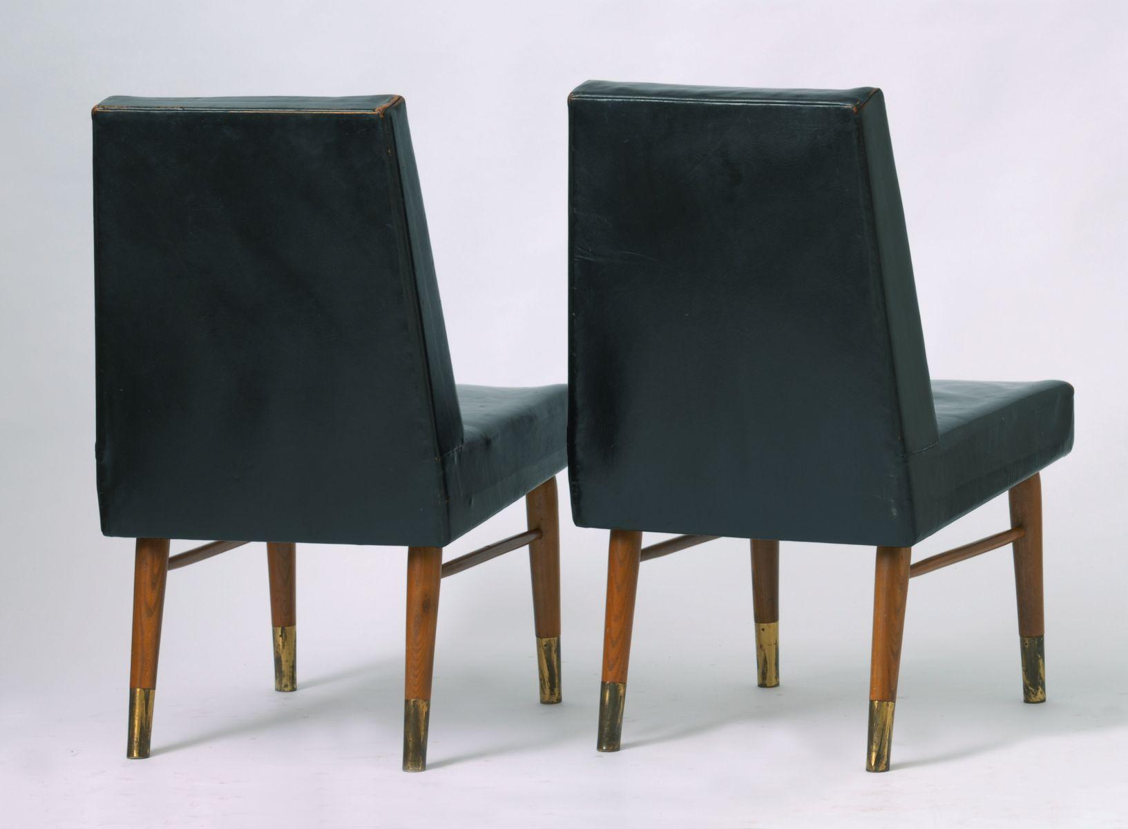 schwarze vintage lederst hle 2er set bei pamono kaufen. Black Bedroom Furniture Sets. Home Design Ideas