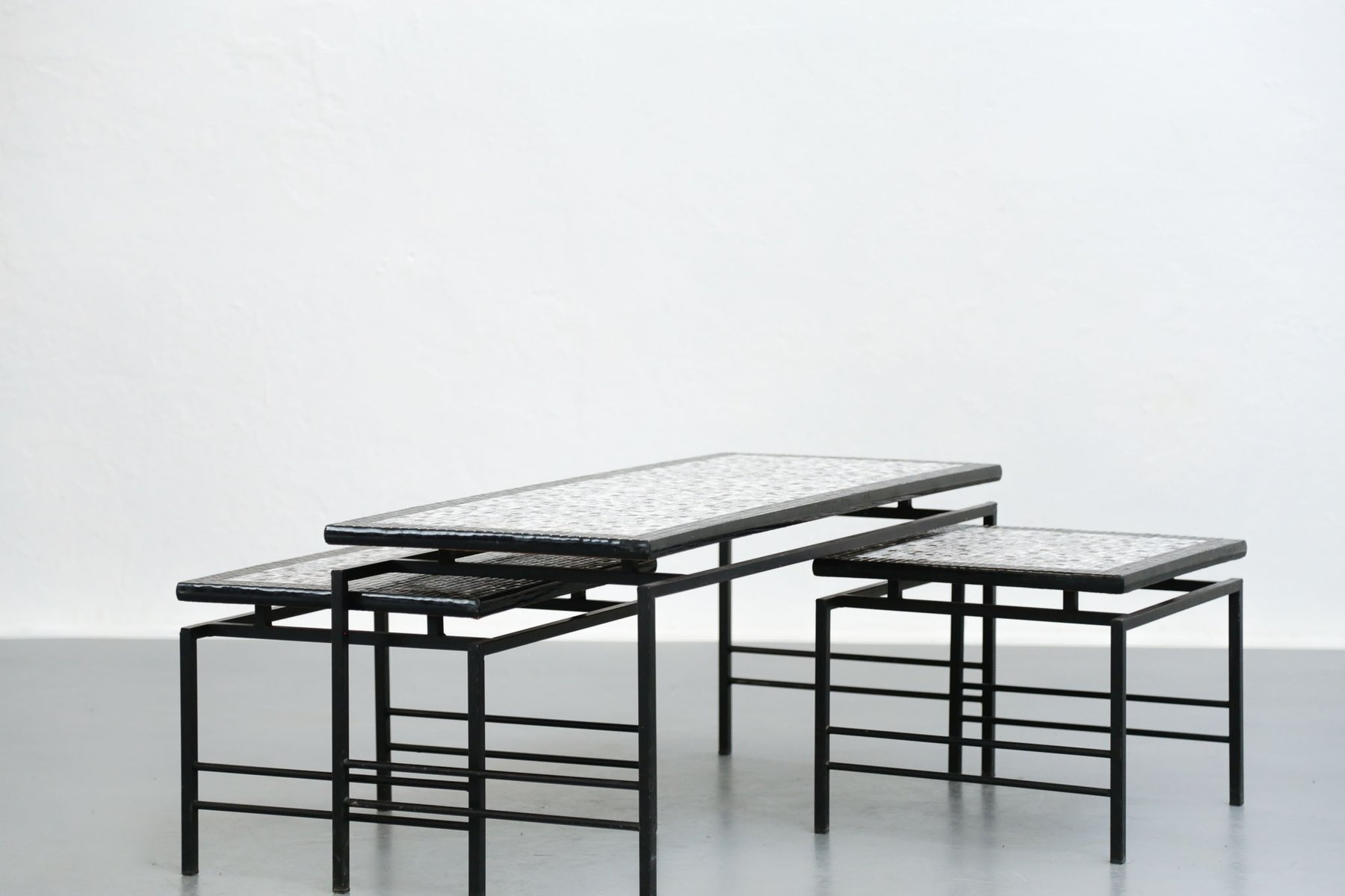 vintage nesting coffee tables 1960s for sale at pamono. Black Bedroom Furniture Sets. Home Design Ideas
